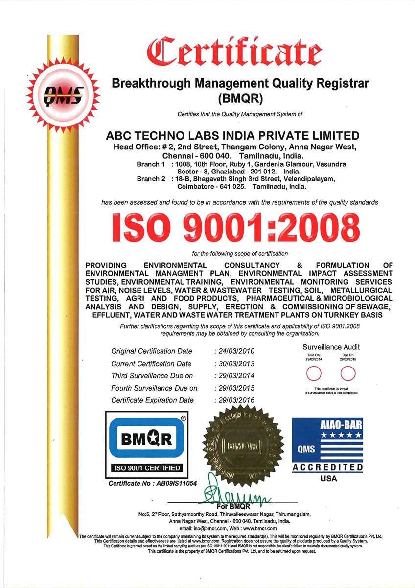 Accreditations | ABC Techno Labs India Private Limited